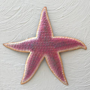Metal Lavender Starfish Wall Art by Caribbean Rays