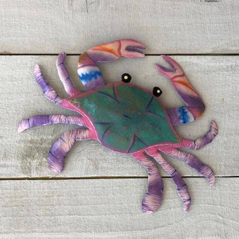 Purple Metal Maryland Crab Wall accent