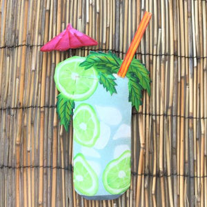 Green Mojito Tropical Drink Metal Wall Decor by Caribbean Rays