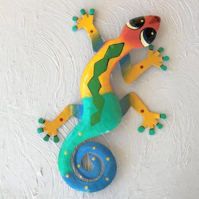 Nicky Metal Gecko Wall Decor by Caribbean Rays