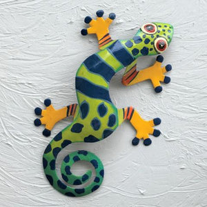 Oliver Metal Gecko Wall Decor by Caribbean Rays