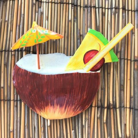10in Pina Colada Coconut Tropical Drink Wall Decor by Caribbean Rays