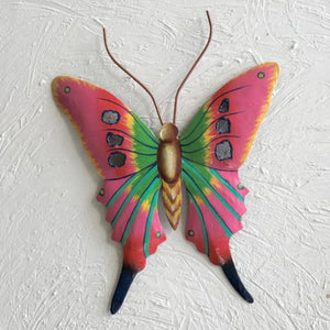 Metal Pink Butterfly Wall Art by Caribbean Rays