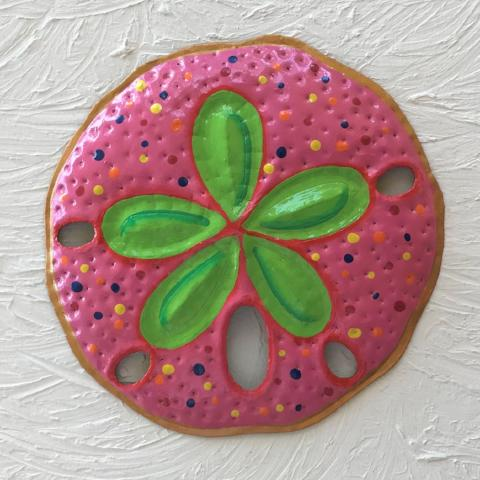 Metal Pink Sand Dollar Wall Decor by Caribbean Rays