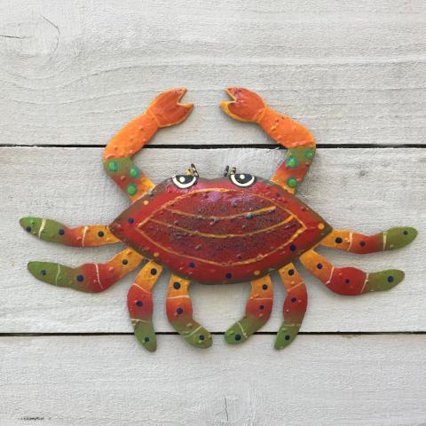 Metal Red Crab Wall Art by Caribbean Rays