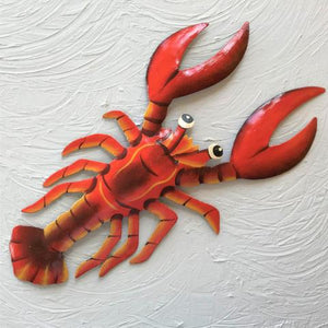 Metal Red Lobster Wall Art