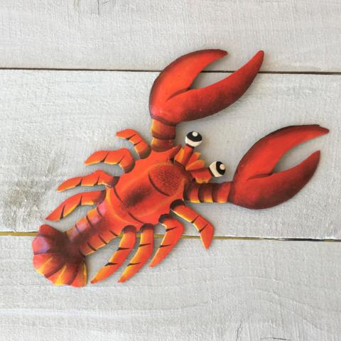 13in Metal Red Lobster Wall Decor by Caribbean Rays