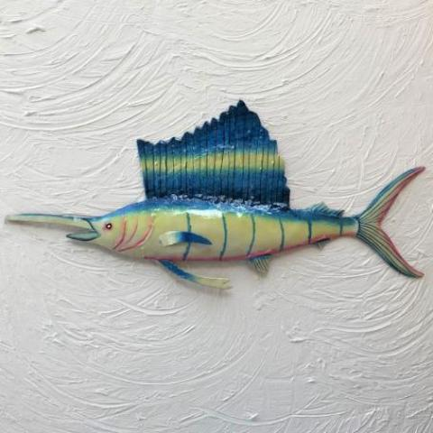 Metal Sailfish Wall Art by Caribbean Rays