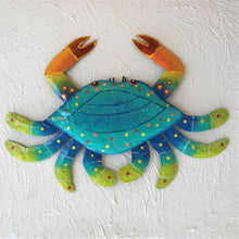 Metal Teal Crab Wall Decor by Caribbean Rays