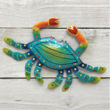 Metal Teal Crab Wall Art by Caribbean Rays