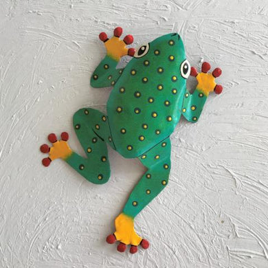 Metal Teal Dancing Frog Wall Decor by Caribbean Rays