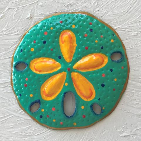 Metal Teal Sand Dollar Wall Decor by Caribbean Rays