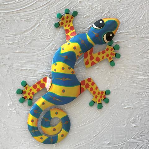 Thaddeus Metal Gecko Wall Decor
