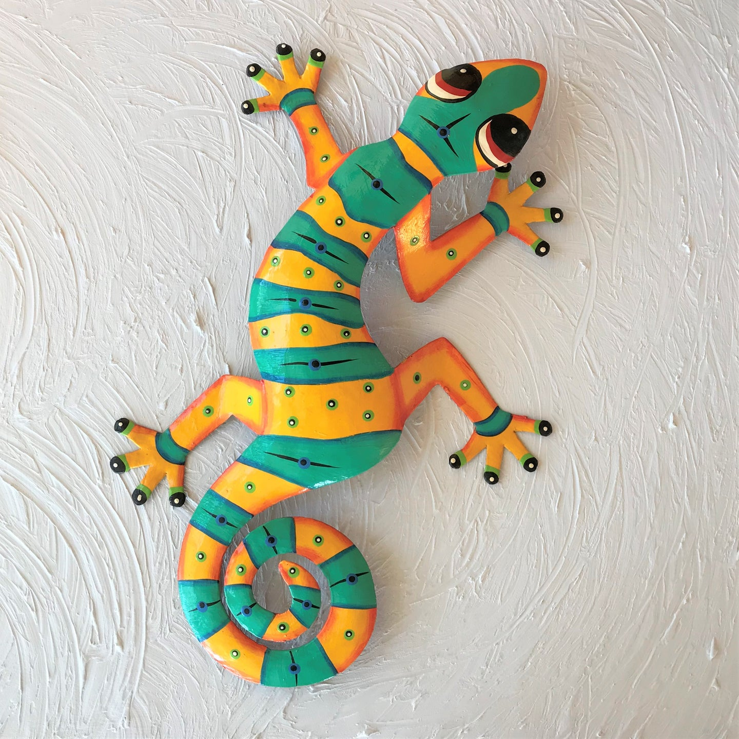 Xavier Metal Gecko Wall Decor by Caribbean Rays