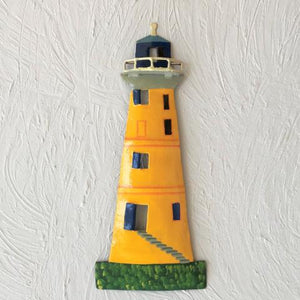 Metal Yellow Caribbean Lighthouse Wall Decor by Caribbean Rays