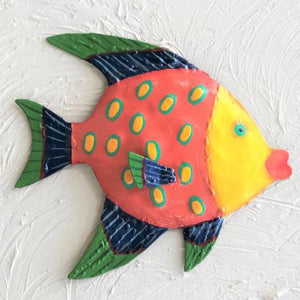Yellow Face Funky Angel Fish Wall Art by Caribbean Rays