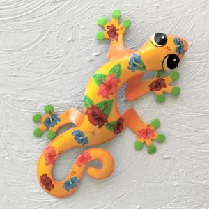 Kala Metal Hibiscus Gecko Wall Decor by Caribbean Rays