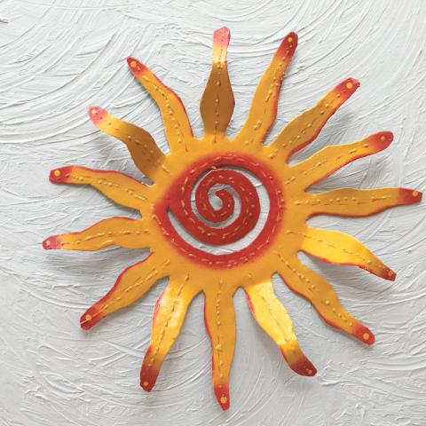 Yellow Wavy Sun Wall Decor by Caribbean Rays
