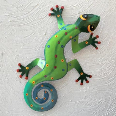 Zada Metal Gecko Wall Decor by Caribbean Rays