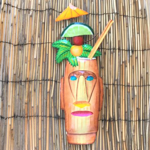 14in Metal Zombie Tropical Drink Wall Decor by Caribbean Rays