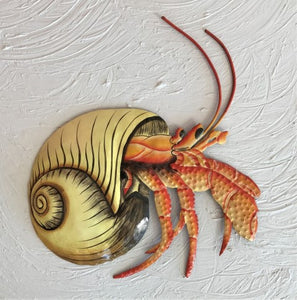 13in Metal White Hermit Crab Wall Decor by Caribbean Rays