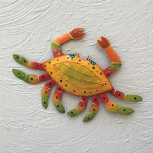 Metal Yellow Crab Wall Decor by Caribbean Rays