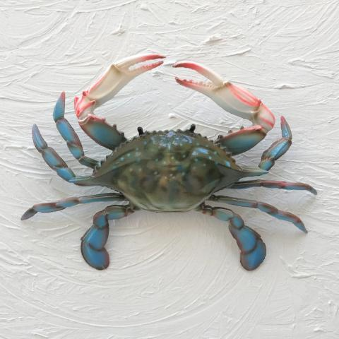 Resin Blue Crab Wall Decor