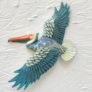 18in Blue Flying Pelican Resin Wall Decor by Caribbean Rays