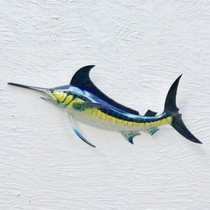 28in Resin Blue Marlin Wall Decor