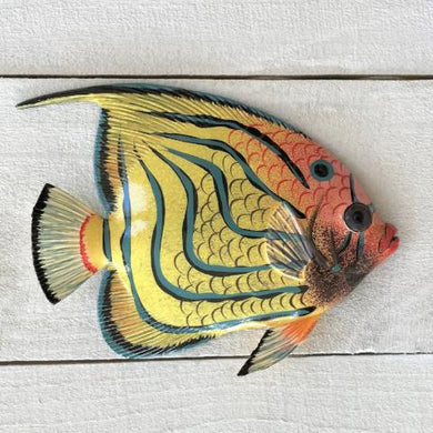 Blue Stripe Resin Tropical Fish Wall Decor by Caribbean Rays