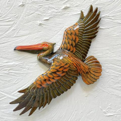 18in Classic Flying Pelican Resin Wall Decor by Caribbean Rays