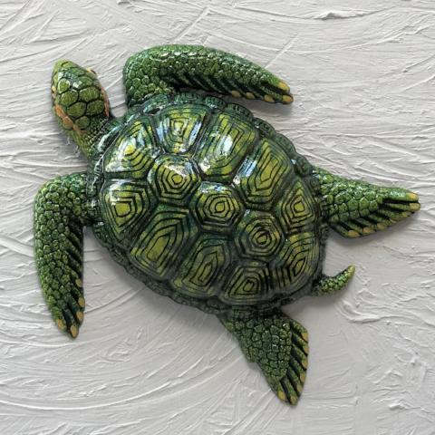 Resin Green Sea Turtle Wall Decor by Caribbean Rays