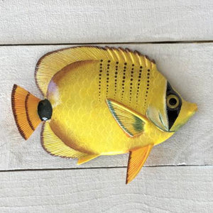 Milletseed Lemon Resin Tropical Fish Wall Decor by Caribbean Rays