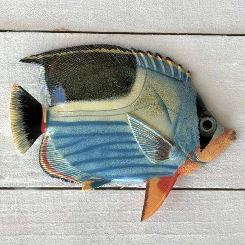 Resin Saddle Back Tropical Fish Wall Decor by Caribbean Rays