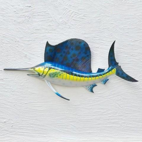28in Resin Sailfish Wall Decor by Caribbean Rays