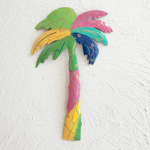 Metal Tye Dye Palm Tree Wall Decor by Caribbean Rays