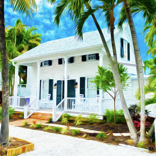 White Porch Canvas Giclee Print Wall Art by Caribbean Rays