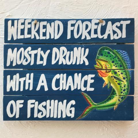 16in Weekend Forecast Wood Sign by Caribbean Rays