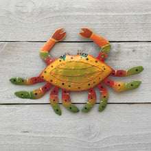 Metal Yellow Crab Wall Art by Caribbean Rays