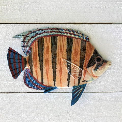 Resin Brown Stripe Neon Goby Fish Wall Decor by Caribbean Rays