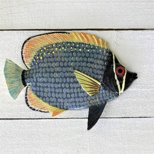 Gray Bandit Resin Tropical Fish Wall Decor by Caribbean Rays