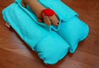 Turquoise Aqua Blue Modern Bunbed, Dachshund Dog Bed COVER Burrow Snuggle Sack Pocket Small Bun Bed