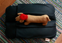 Blacky Gothy Dachshund Bunbed Dog Bed, w/fleece cover Burrow Snuggle Sack Pocket Bun Bed