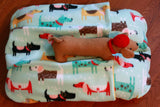 Blue Dogs Dachshunds Fleece Winter Bunbed Dog Bed, cover Burrow Snuggle Sack Pocket Bun Bed