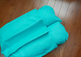 Turquoise Aqua Blue Modern Bunbed, Dachshund Dog Bed, with COVER Burrow Snuggle Sack Pocket Small Bun Bed