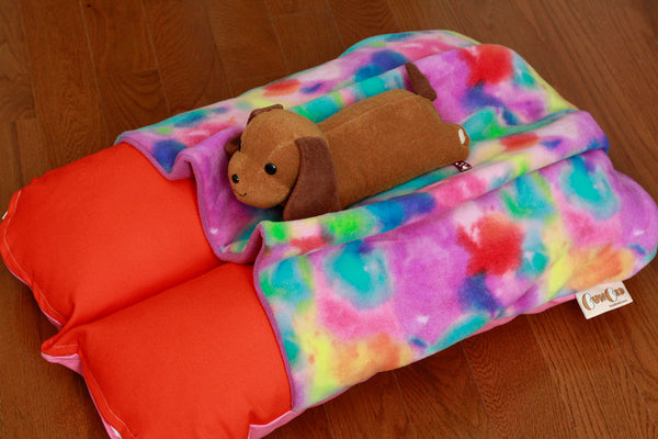 Colorful Orange and Pink Bunbed and Dog Plush