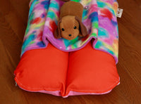 Orange and Colorful Fleece Print Bunbed Front View