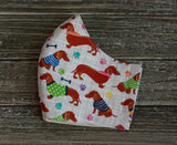 Dachshund Print Cotton Face Mask