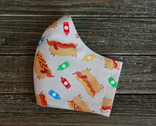 Hot Dog Dachshund Flannel Face Mask