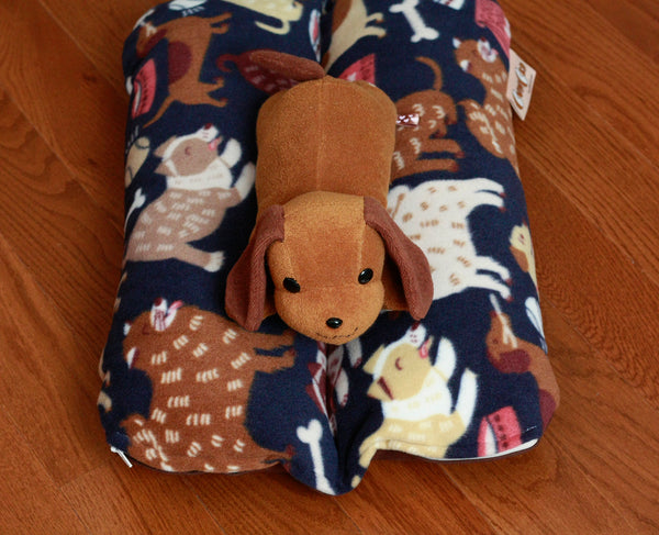 Small Navy Dog Print Bunbed